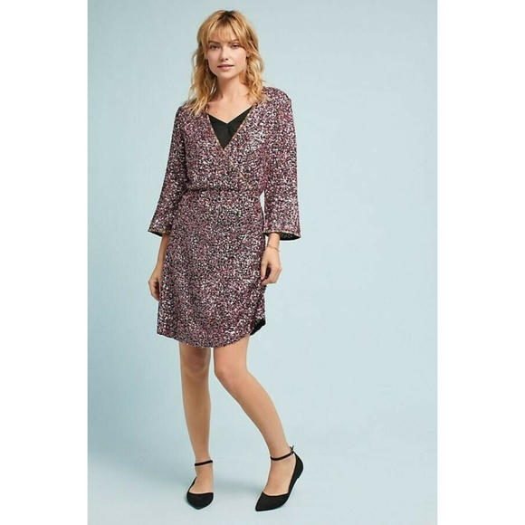 ANTHROPOLOGIE Dresses & Skirts - NEW ANTHROPOLOGIE SEQUINED WRAP DRESS $ 348 Size 2